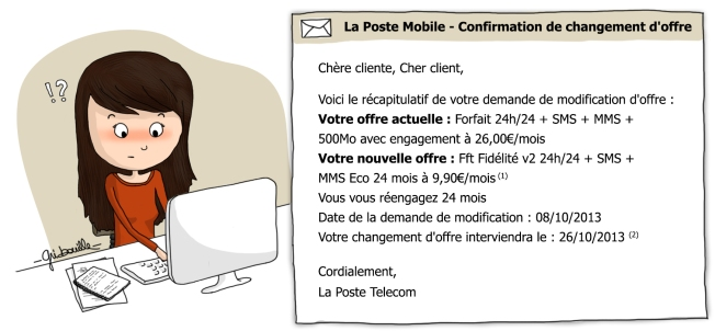 La Poste Mobile - Confirmation de changement d'offre : votre demande de changement de forfait a bien été prise en compte