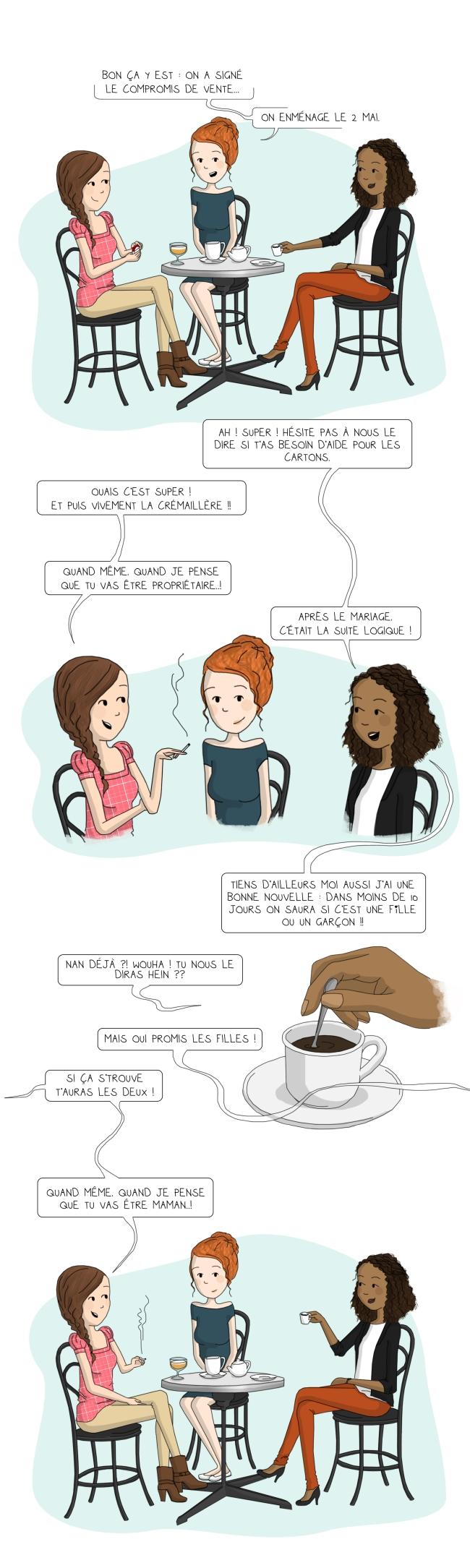 BD de fille - Illustration - Grandes nouvelles
