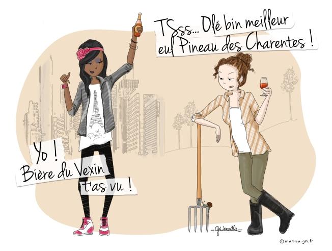 Bière du Vexin VS Pineau des Charentes