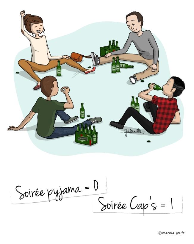 Soirée pyjama VS Soirée Cap's 7