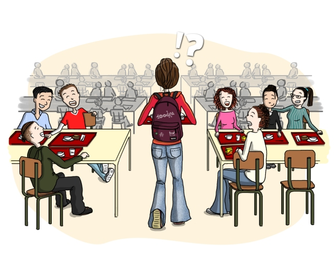 Sandra Lapouasse - Illustration lycée honte