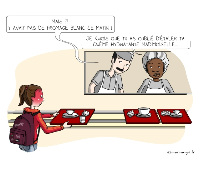 Dessin illustration cantine self honte