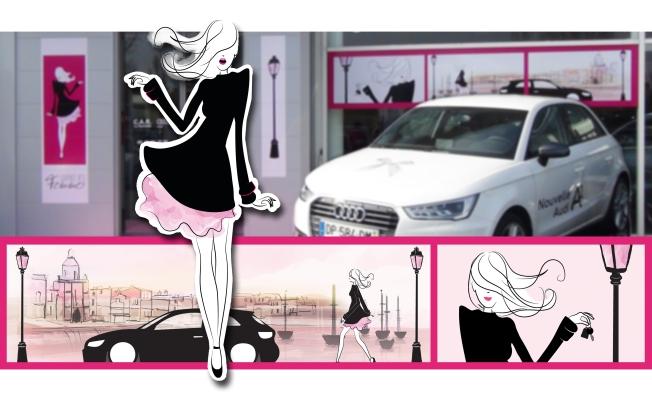 Illustratrice girly Audi journée des femmes