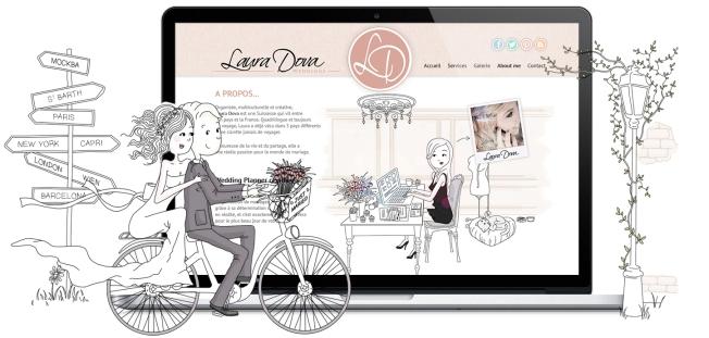 Illustration pour site de mariage wedding planner