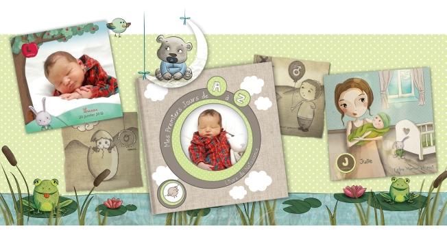 Illustratrice livre de naissance bébé
