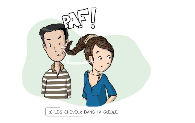 Illustration cheveux gifle claque