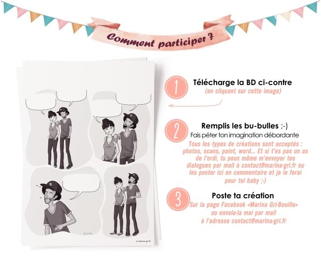 Concours - Portraits illustrés à gagner - Remplir les bulles BD