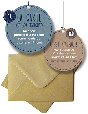 Tarifs - Carte de voeux illustrée - Marina Gri-Bouille