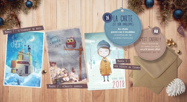 Tarifs cartes de voeux 2018