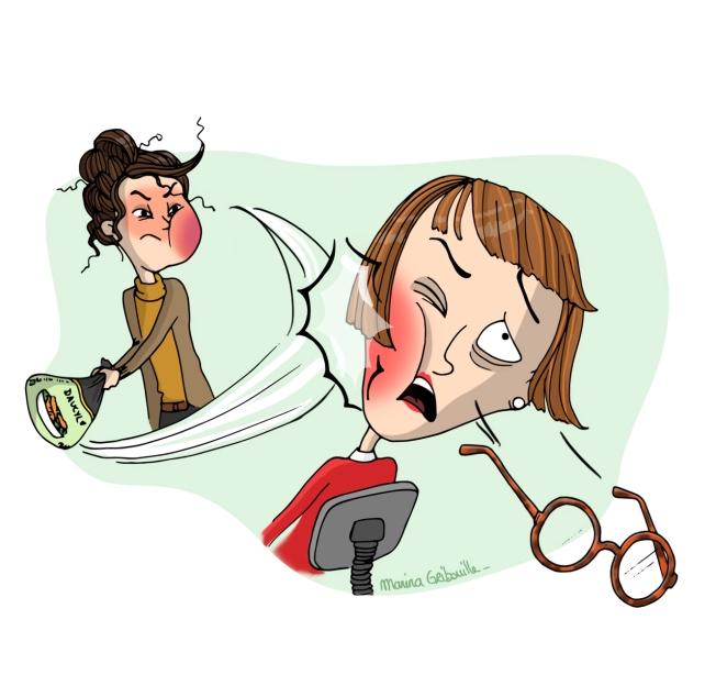 RDV dentiste - Illustration Marina Gri-Bouille - Secrétaire conne giffle baffe claque