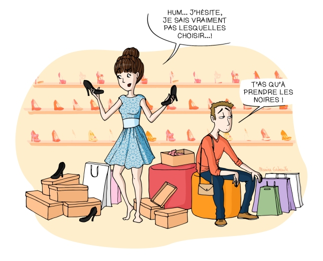 Femme shopping magasin chaussure